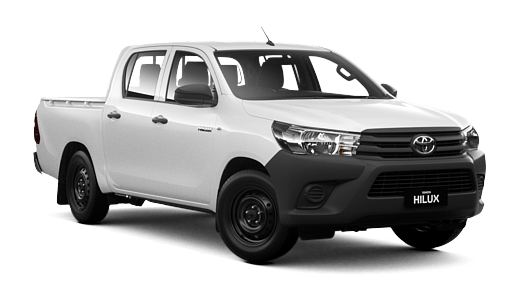 Brand New 2017 Toyota HiLux 4x2 Workmate Double-Cab Pick-up (Glacier White)