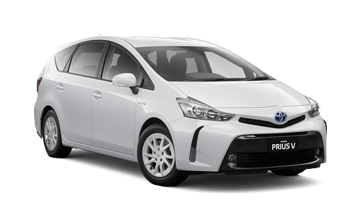 Brand New 2018 Toyota Prius v (Glacier White)